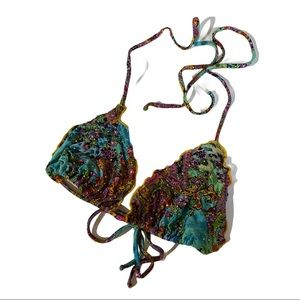 Luli Fama Bikini Top With Rhinestones